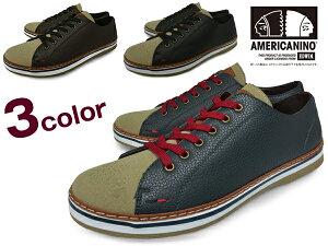 AMERICANINOEDWINアメリカニーノエドウィンae-822メンズカジュアルシューズスニーカーローカットBLACKDK.BROWNNAVYブラックダークブラウンネイビー靴くつ