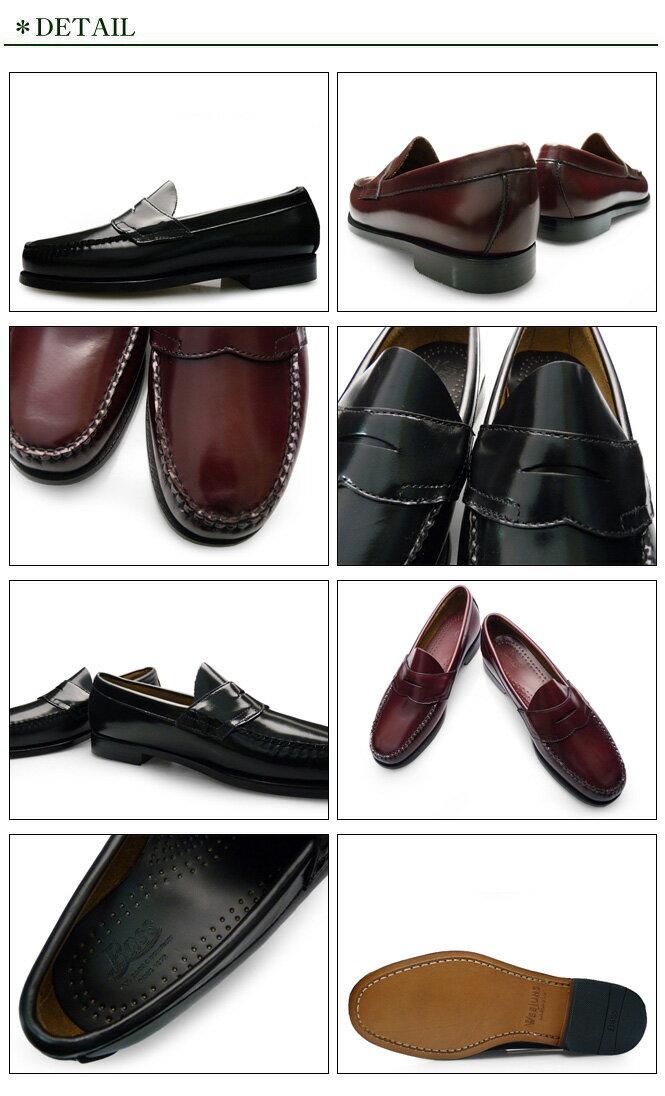 G.H.BassWEEJUNSLOGANバスウィージャンズローガンローファー本革レザーメンズコインローファーペニーローファー学生通学学生靴革靴送料無料
