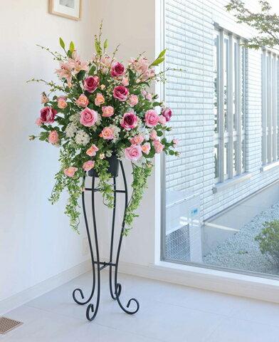 ★送料無料★ 二コルローズスタンド 2A0501-720 バラ 造花 ギフト