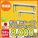 折りたたみ会議テーブル 日本製 棚付き オフィス家具 1860 折りたたみテー...