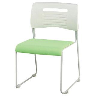 ★53%OFF★スタッキングチェア布張り積み重ねOK4色展開ブラックライムオレンジブルーミーティングチェア会議椅子オフィス人気激安GPMC-430