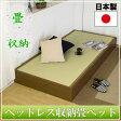 畳ベッド セミシングル 収納付き 防湿防虫加工 日本製 収納ベッド 収納付きベッド フロアベッド 低床 ベッド 畳 収納 人気 ローベッド D-62