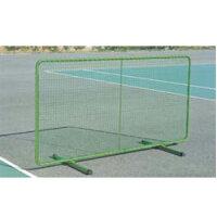 テニスフェンス 屋内兼用 折り畳み式 テニスネット シングルネット 防球ネット 防球フェンス スチール製 省スペース 頑丈 テニス 練習 体育館 教育施設 S-0160の画像