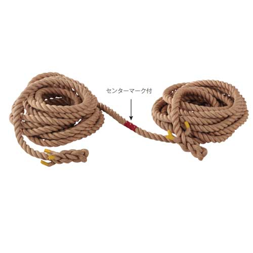 綱引きロープ径36mmx30m綱引き用ロープ綱マニラ麻定尺品サツマ加工付き学校運動会スポーツ大会競技