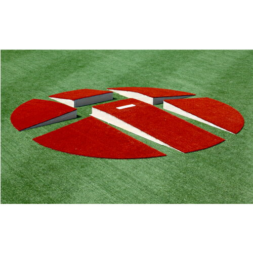 ポータブルピッチャーマウンド フルサイズ 分割仕様 直径5.48m×高さ254mm 送料無料 工事不要 ピッチャーマウンド 野球用品 練習用具 設備 S-9523