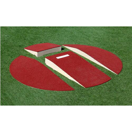 ポータブルピッチャーマウンド ユースサイズ 分割仕様 直径3.04m×高さ203mm 送料無料 グラウンド設備 野球 試合 練習 人工芝用ピッチャーマウンド S-9524