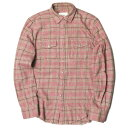 The Letters ザ・レターズ 16AW Standard Heavy Nel Check Shirt スタンダードヘビーネルチェックシャツ FW16-LS001B M ピンク 長袖 ウエスタン トップス【中古】【The Letters】