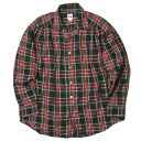 AiE (Arts in Education) エーアイイー 17AW アメリカ製 Painter Shirt Tartan Check タータンチェックペインターシャツ S レッド 長袖 ギャザー トップス【中古】【AiE (Arts in Education)】