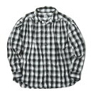 AiE (Arts in Education) エーアイイー 19AW アメリカ製 Painter shirt shadow plaid シャドーチェックペインターシャツ M ブラック 長袖 ギャザー オンブレ トップス【中古】【AiE (Arts in Education)】