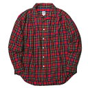 AiE (Arts in Education) エーアイイー 18AW アメリカ製 Painter Shirt Tartan Check タータンチェックペインターシャツ M レッド 長袖 ギャザー トップス【中古】【AiE (Arts in Education)】