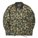 South2 West8 サウスツーウェストエイト S2W8 19SS イギリス製 Waxed Cotton Coach Jacket Camouflage ワックスコットンコーチジャケット カモフラージュ EJ873 L グリーン 迷彩 アウター【新古品】【中古】【South2 West8】