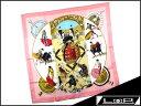 【未使用】 エルメス カレ 90 スカーフ PLAZA DE TOROS 闘牛 闘牛場 牛 馬 ピンク シルク 【A17108】 【中古】