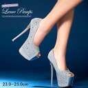 パンプス 靴 レディース キャバ 16cmヒール ビジューバ...