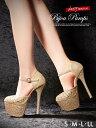 パンプス 靴 レディース キャバ 16cmヒール ストラップ...