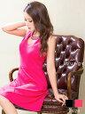 【あす楽】 dazzy ストア ドレス キャバドレス ワンピドレス ビーズ付き U型カットAライン