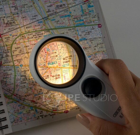虫眼鏡 拡大鏡 モバイルルーペ46mm3倍 コ...の紹介画像3