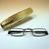 おしゃれ 老眼鏡 [シニアグラス] カンダオプティカル スライト ゴールド 強度