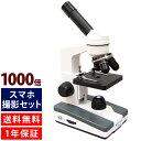 顕微鏡 小学生 スマホ撮影セット 40倍-1000倍 生物顕微鏡 顕微鏡セット 子供 学習 自由研究 クリスマスプレゼント