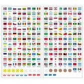 国旗シール 世界の国旗シール 地球儀 世界 社会 学習 勉強 国旗 ステッカー 地球儀