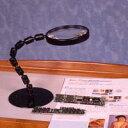 虫眼鏡 スタンド ルーペ 卓上 拡大鏡 スタンド式 グースネックルーペ 1720PS 2倍 100mm ルーペ スタンド 池田レンズ