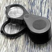 虫眼鏡 宝石用ルーペ 高倍率 4倍&6倍・10倍 高倍率ルーペ 池田レンズ 虫眼鏡