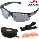 サングラス AX407-DPX UV400 AXE アックス スポーツサングラス UVカット パーツ付属 セット サングラス