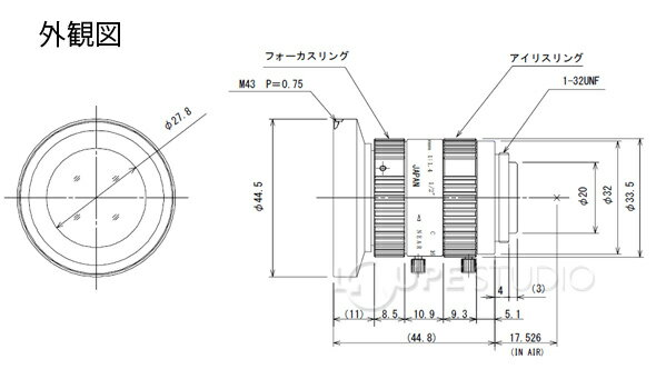 5mm F1.4 1/2型サイズカメラ用 メガ...の紹介画像3