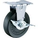 ショッピングキャスター ハンマー Eシリーズ固定式ゴム車輪 125mm ストッパー付 [415ER-R125-BAR01] 415ERR125BAR01 販売単位:1