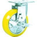 プレート式ステンレス金具キャスター ウレタン車 シシク ステンレスキャスター 制電性ウレタン車輪自在ストッパー付 SUNJB-150-SEUW 販売単位:1 送料無料