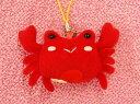 お魚携帯ストラップ カニ/かに/蟹 サイズ:5.5cm