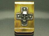 シルバーアクセサリー スカル5クロスマネークリップ メンズ レディース 十字架 キリスト