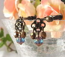 ★Glass ★ floret pierced earrings & earrings made in antiqued Czech