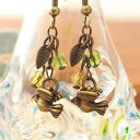 ★Antique small bird ★ pierced earrings & earrings