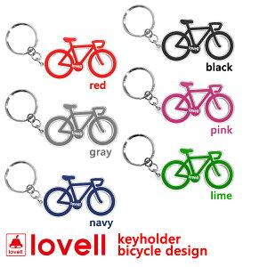 キーホルダーかわいい自転車デザインラベル