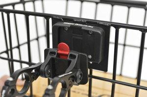 アルミバスケット自転車フロント前用角型ワンタッチ取外し