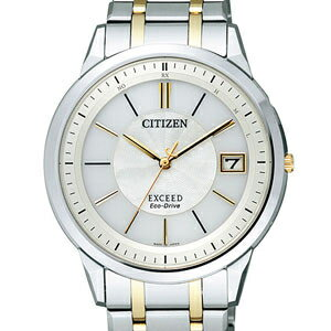 Men's CITIZEN EBG74-5024 exceed eco-drive radio watch white character Panel