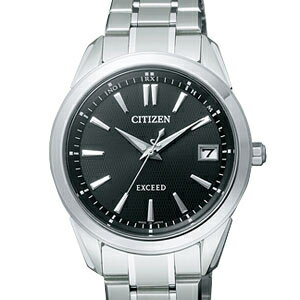 Citizen EBG74-5071 エクシードエコドライブ radio time signal black clockface men