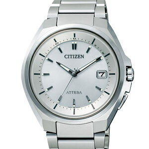 CITIZEN ATD53-3053 atessa eco-drive radio watch Silver Dial men's