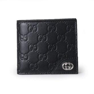 GUCCI Gucci 181671 A 0V1N1000 guccissima 2 fold wallet