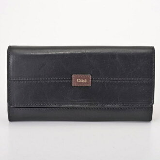 Chloe by Chloe 3P0472-7A733 091 BLACK/MOKA ETHEL Ethel long wallet