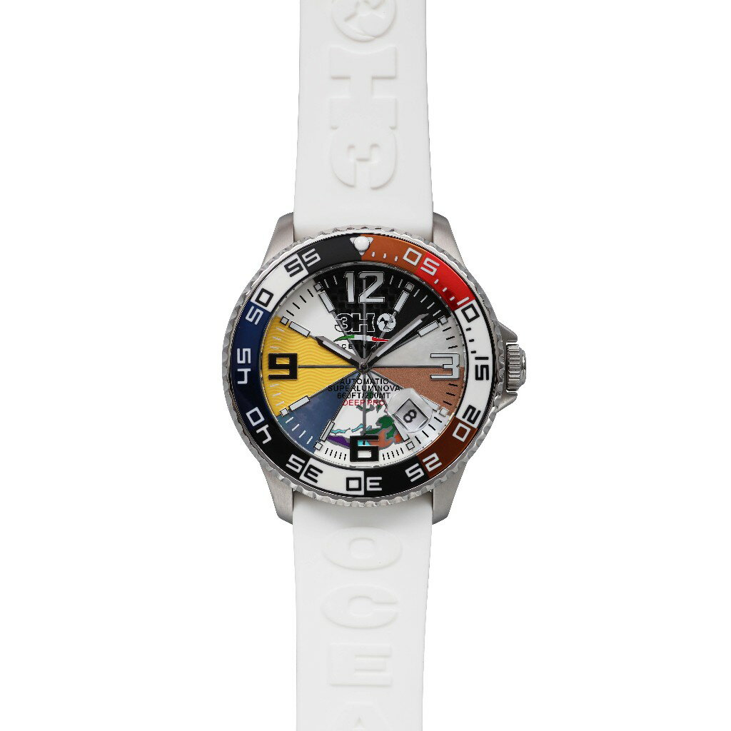 3H ITALIA トレアッカ イタリア 腕時計 44M1 【送料無料】3H ITALIA(トレアッカ イタリア)  腕時計