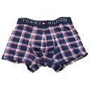 TOMMY HILFIGER トミー ヒルフィガー ボクサーパンツ メンズ 1U87903011 パープルチェック Sサイズ