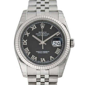 ROLEX Rolex Datejust 116234 new. Black mens