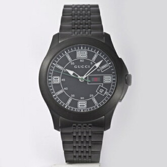 GUCCI Gucci YA126202 # 126 G timeless black mens