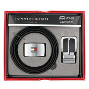 TOMMY HILFIGER トミーヒルフィガー ベルトセット メンズ ブラック/ダークブラウン 11TL08X007-014