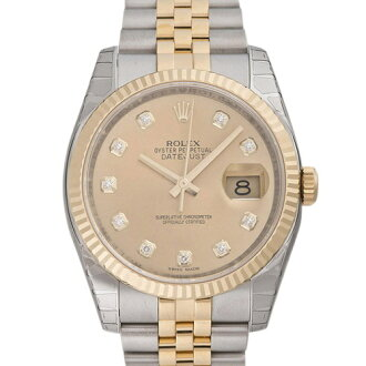 ROLEX Rolex date just 116233G champagne gold men