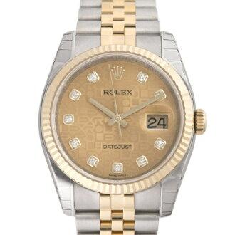 ROLEX Rolex Datejust 116233 G champagne gold computer mens