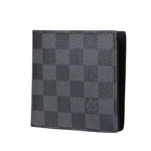 LOUISVUITTONルイヴィトンN62664グラフィットポルトフォイユ・マルコMN二つ折り財布