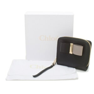 Chloeクロエ財布3P0292889001BLACKLEATHERBOW