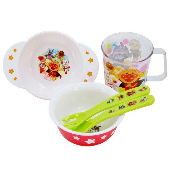 レックANアンパンマン食器セット(ごはん茶碗・小鉢・クリアーコップ・スプーン・フォーク)KK-225